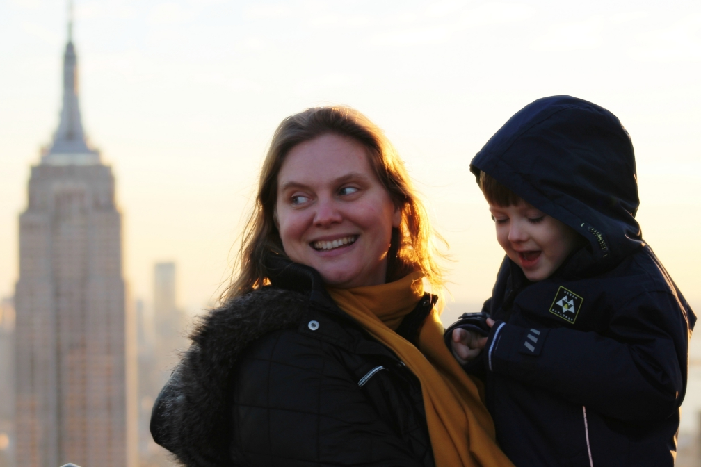 Mom, Son, NYC